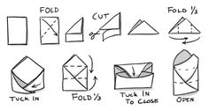How to fold a paper envelope for storing seeds