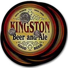 Kingston Beer & Ale - 4 pack Drink Coasters ZuWEE…
