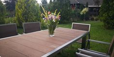 Mira Vario Edelstahl Gartenmöbel Outdoor Furniture, Outdoor Decor, Dining Table, Home Decor, Stainless Steel, Decoration Home, Room Decor, Dinner Table, Dining Room Table