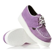 Underground Wulfrun Creepers Womens Shoes Lilac