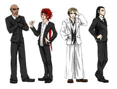 Rude, Reno, Rufus ShinRa, Tseng Turks of FFVII - Dept. of Administrative Rsrch. by murr-ma-ing on DeviantArt Madame Red, The Turk, Final Fantasy Vii, Finals, San, Deviantart, Video Games, Stuff Stuff, Videogames