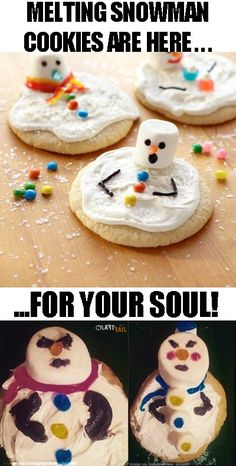 melting snowman cookies NAILED IT