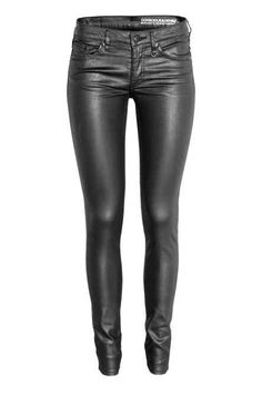 Coated Skinny Low Jeans