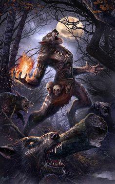 Shaman's wolf pack by DusanMarkovic.deviantart.com on @DeviantArt