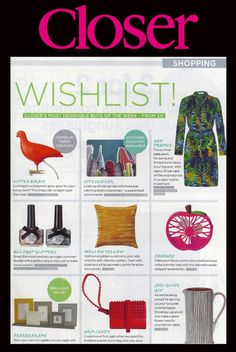 Our Tropical Print Shirt Dress makes Closer magazines wishlist!