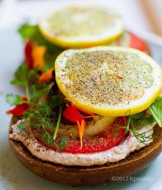 Lemon Pepper Summer Bagels - Healthy. Happy. Life. #vegan