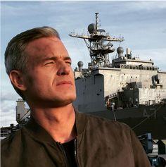 Eric Dane filming season three- The Last Ship