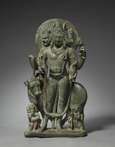 Standing Shiva Mahadeva, 700's. Northern India. Collection CMA, 1989.369
