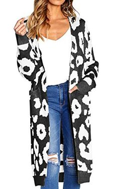 online shopping for Spbamboo Fashion Women Knitted Print Long Sleeve Cardigan Tops Sweater Coat from top store. See new offer for Spbamboo Fashion Women Knitted Print Long Sleeve Cardigan Tops Sweater Coat Pullover Outfit, Leopard Print Cardigan, Casual Sweaters, Long Sweaters, Cardigans For Women, Coats For Women, Women's Cardigans, Long Sweater Coat, Sweater Outfits
