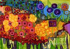 Alcohol Ink Art - Number VIIII by Vicki Barry