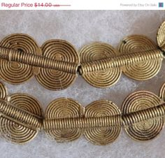 ON SALE Vintage African Brass Beads Tribal Beads by ColorSquare, $12.60