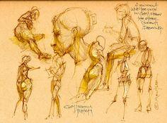 Michael Mentler's fabulous drawings
