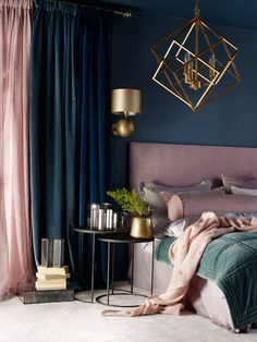 25 Elegant Bedroom Makeover Ideas With Small Budget - Suites, Bedroom Colors, Pastel Bedroom, Dark Teal Bedroom, Jewel Tone Bedroom, Teal Bedroom Decor, Bedroom Color Schemes, Mauve Bedroom, Jewel Tone Decor