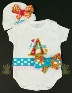 Coming home outfit for baby girl.