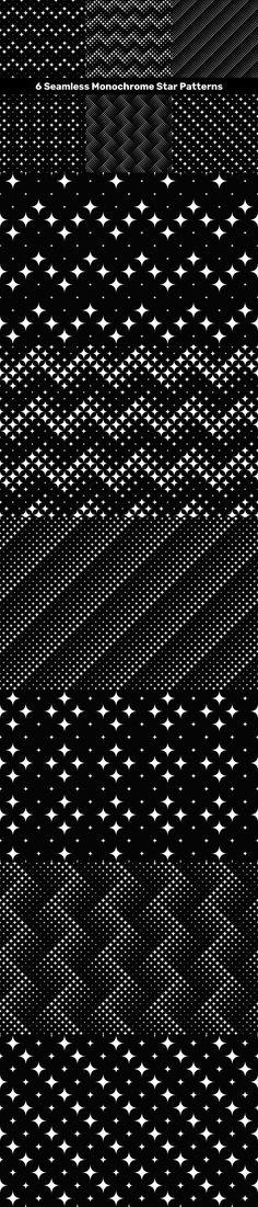 6 Seamless Monochrome Star Patterns #CheapPattern #CheapPatterns #PremiumVector #VectorPattern #GeometricPatterns #BackgroundBundles #PatternSet #BackgroundBundle #VectorGraphics #abstract #GeometricDesign #cheap #geometrical #graphicflyer #PremiumVectorPattern #PatternGraphics #colored #cheap #PatternCollections Star Patterns, Vector Pattern, Vector Graphics, Monochrome, Stars, Monochrome Painting, Sterne, Star