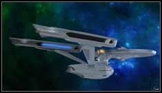 Constitution Class Refit by WileyCoyote, converted by me. For background resources, please the favourit. The Legend Endures Scotty Star Trek, Star Trek 1, Star Trek Ships, Star Trek Animated Series, Trek Ideas, Uss Enterprise Ncc 1701, Starfleet Ships, Star Ship, The Enemy Within
