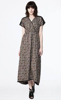 Journey Maxi Dress - Boxes Print