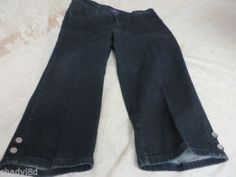NOT YOUR DAUGHTERS JEANS 10P Capri Crop Dark Lift Tuck Style P70593T