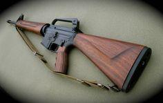 AR-15 with wood furniture [880x750] - Imgur
