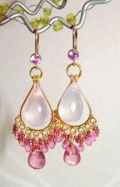 14k Gold GF Peridot Pave Purse Pink Topaz Rondelle Charm Bracelet Super Sweet