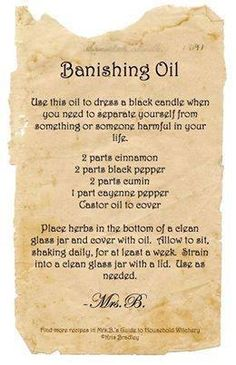 Banishing Oil, From Everything Under the Moon, FB