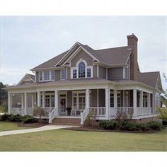Ranch floor plans with wrap around porch. Porch House Plans, House With Porch, Dream House Plans, Dream Houses, Two Story House Plans, Two Story Houses, House Plan With Basement, House Wrap Around Porch, Nice Houses