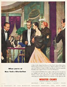 The Smart Set, via Flickr.  Webster Cigar Ad 1947