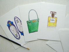 Fashion note cards.
