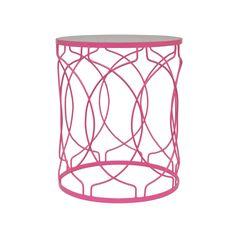 Pink Metal Accent Table | dotandbo.com