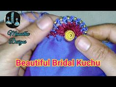 Hi friends, This is a beautiful bridal kuchu design. It looks very attractive and easy making design. You can use this design for bridal sarees. Saree Tassels Designs, Saree Kuchu Designs, Blouse Designs, Wedding Dress Silhouette, Marriage Dress, Red Wedding Dresses, Married Woman, Glamorous Wedding, White Bridal