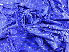 The Original African Masai Shuka Blanket Crafted Maasai Cloth Acrylic Fabrics For Make an Outfit Tanzania Blue Masai Shuka Fabrics Gift NEW