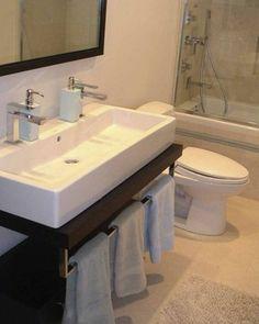 Double Sink Bathroom Vanity: Gorgeous Duravit Sink In Bathroom Modern With Narrow Sink Trough Sink Bathroom, Bathroom Sink Design, Small Sink, Small Bathroom Vanities, Narrow Bathroom, Double Sink Bathroom, Bathroom Layout, Modern Bathroom Design, Double Sinks