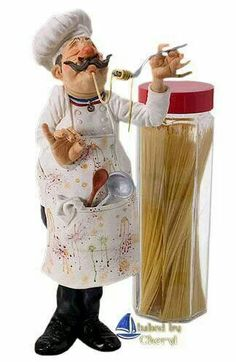 Fat Chef Kitchen Decor, Bistro Kitchen, Kitchen Themes, Kitchen Art, Decoupage Vintage, Decoupage Paper, Chef Pictures, Cartoon Chef, Le Chef