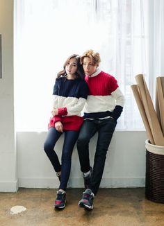 Superstar.i - Round-Neck Color-Block Knit Pullover #pullover #knitpullover…