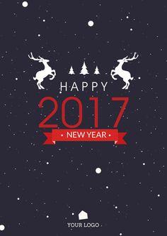 happy 2017 card