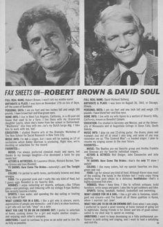 Robert Brown, David Soul - 16 Spec Magazine - Summer, 1969