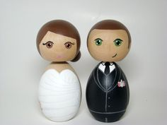 Wedding Cake Toppers by Pegged