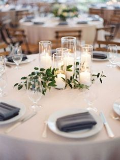 Diy Wedding Decorations For Tables Greenery - 219 diy creative rustic chic wedding centerpieces ideas Chic Wedding, Dream Wedding, Trendy Wedding, Wedding Ceremony, Simple Wedding Reception, Round Table Decor Wedding, Wedding Gowns, Wedding Venues, Wedding Rustic