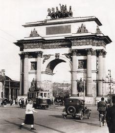 Наум Грановский. Триумфальная арка у Белорусского вокзала. 1935 г.