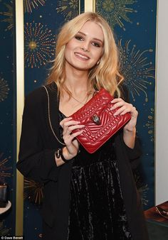 Busy teen! Lottie Moss mixed business with pleasure as she attended Bulgari's celebration ...