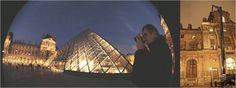 Musée du Louvre,Paris 2005 Pyramide, Façades de la Cour Carrée et de la Cour Napoléon, 2011 Développements de prototype d'éclaiarge à LEDs. Suivi. Mesures