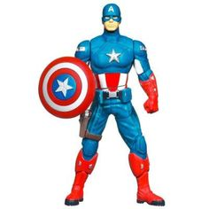 """6-1/2"""" Shield Spinning Captain America Action Figure"""