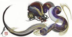赤、紫, Red, purple dragon