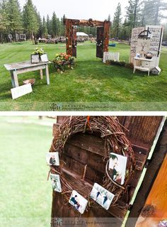 salvages western bar door as entrance to reception vintage wedding, rustic wedding