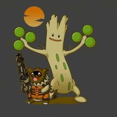 Pokemon x guardians of the galaxy mash-up