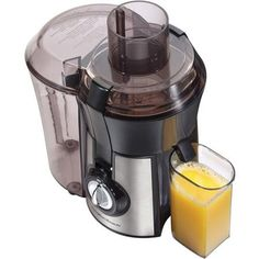 Enjoy a healthy glass of fresh juice whenever you like with the Hamilton Beach Stainless Steel Big Mouth Juice Extractor. The Hamilton Beach 67608 juicer has a powerful motor that allows it to pulverize even hard root vegetables with ease. Top 14, Best Juicer Machine, Food For Less, Juicer Reviews, Centrifugal Juicer, Electric Juicer, Juice Extractor, Essentials, Thing 1