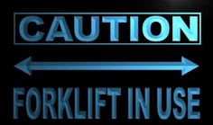 Caution Forklift In Use Neon Light Sign