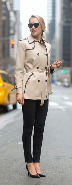 leather trim trench coat - the best thing you'll buy this spring