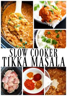 HEALTHY SLOW COOKER TIKKA MASALA - Made with aromatic Indian spices, tomato sauce, chicken and coconut milk, it's one of our favorite slow cooker meals.