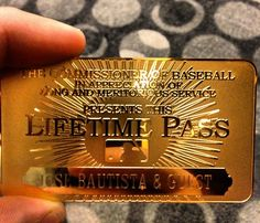 Jose Bautista Received an MLB Lifetime Pass, and He Wants You to Check It out Cub Sport, Game Pass, Buster Posey, Yadier Molina, Tampa Bay Rays, Fenway Park, Toronto Blue Jays, Derek Jeter, Pittsburgh Pirates